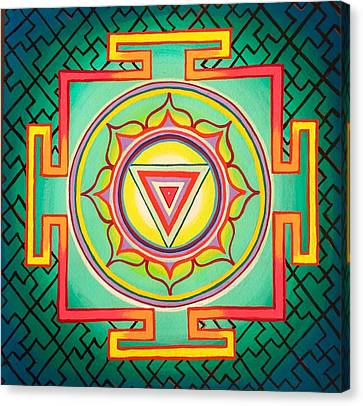 Kali Yantra Canvas Print - Kali Yantra by Britt Kuechenmeister
