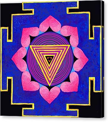 Kali Yantra Canvas Print - Kali Yantra by Cecile Poletti