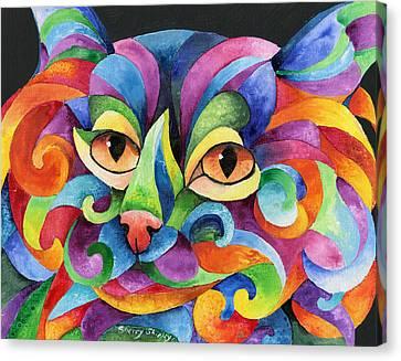 Kalidocat Canvas Print by Sherry Shipley