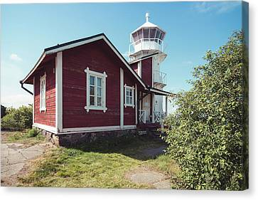 Canvas Print featuring the photograph Kallo Lighthouse by Ari Salmela