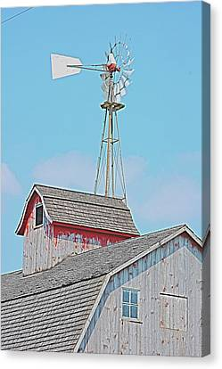 Kalona Barn Canvas Print by Jame Hayes