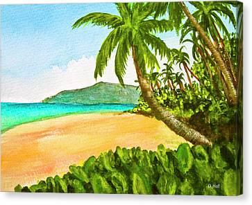 Kamaole Beach Maui Hawaii Art Painting #349 Canvas Print by Donald k Hall