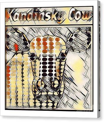 Kandinsky Cow No. I Canvas Print by Geordie Gardiner