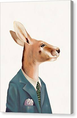 Kangaroo Canvas Print by Animal Crew