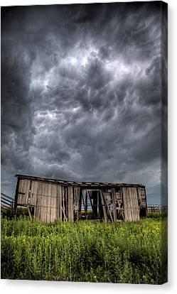 Kansas Boxcar Storm Canvas Print