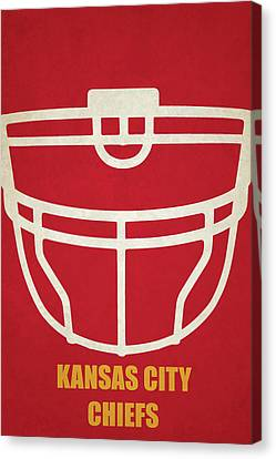 Kansas City Canvas Print - Kansas City Chiefs Helmet Art by Joe Hamilton
