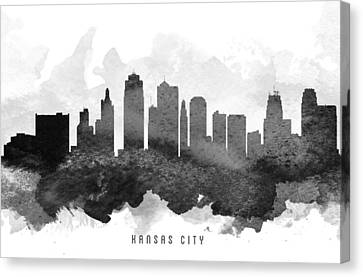 Kansas City Canvas Print - Kansas City Cityscape 11 by Aged Pixel