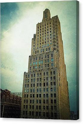 Fire Escape Canvas Print - Kansas City Gotham by Glenn McCarthy Art and Photography