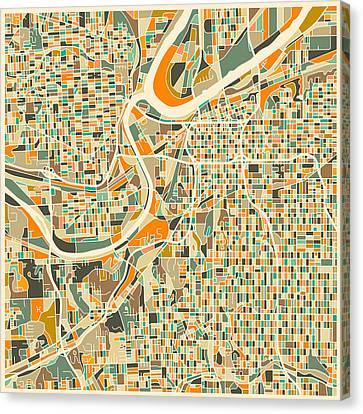 Kansas City Map Canvas Print by Jazzberry Blue