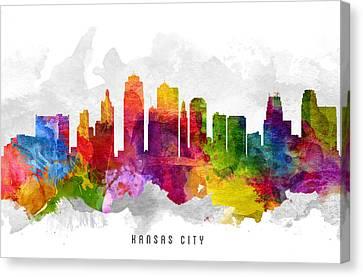 Kansas City Missouri Cityscape 13 Canvas Print by Aged Pixel
