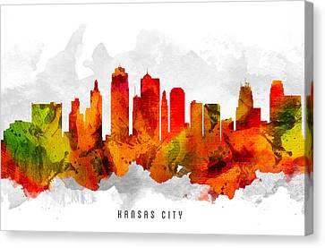 Kansas City Missouri Cityscape 15 Canvas Print by Aged Pixel