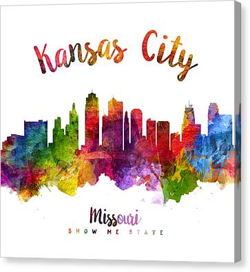 Kansas City Canvas Print - Kansas City Missouri Skyline 23 by Aged Pixel