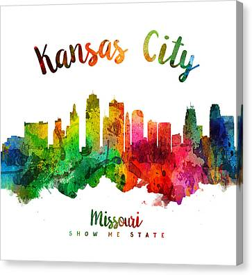 Kansas City Canvas Print - Kansas City Missouri Skyline 24 by Aged Pixel