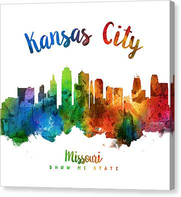 Kansas City Canvas Print - Kansas City Missouri Skyline 25 by Aged Pixel