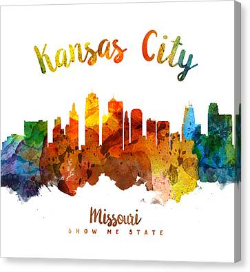 Kansas City Canvas Print - Kansas City Missouri Skyline 26 by Aged Pixel
