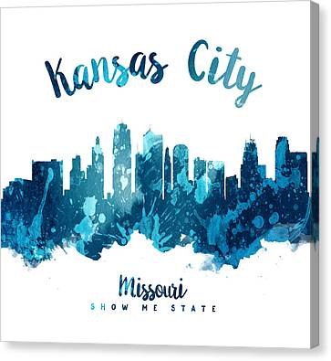 Kansas City Canvas Print - Kansas City Missouri Skyline 27 by Aged Pixel