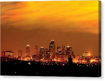 Kansas City Missouri Skyline Canvas Print by Don Wolf