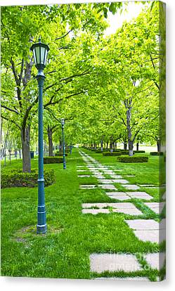 Kansas City Museum Garden Walk Canvas Print by ELITE IMAGE photography By Chad McDermott