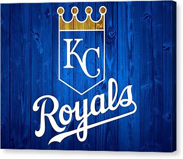 Kansas City Royals Barn Door Canvas Print