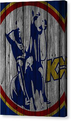 Kansas City Scouts Wood Fence Canvas Print by Joe Hamilton