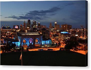 Kansas City Skyline 2016 Canvas Print by Shelley Wood