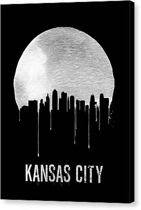 Kansas City Skyline Black Canvas Print by Naxart Studio