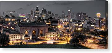 Kansas City Skyline Canvas Print by Ryan Heffron