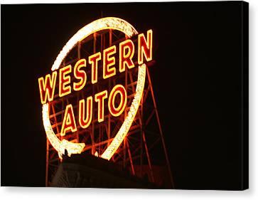 Kansas City Western Auto Canvas Print by David Dunham
