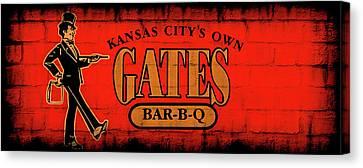 Kansas City's Own Gates Bar-b-q Canvas Print