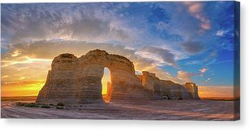 Canvas Print featuring the photograph Kansas Gold by Darren White