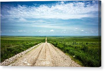Kansas Gravel Rollers Canvas Print by Eric Benjamin