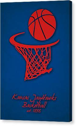 Kansas Jayhawks Basketball Canvas Print by Joe Hamilton