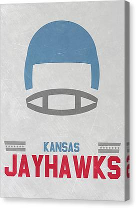 March Canvas Print - Kansas Jayhawks Vintage Football Art by Joe Hamilton