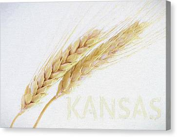 Canvas Print featuring the digital art Kansas by JC Findley
