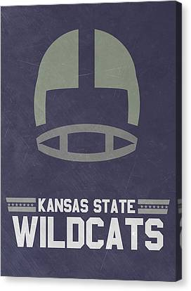 Kansas State Wildcats Vintage Football Art Canvas Print by Joe Hamilton