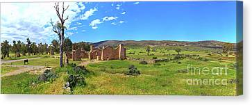Canvas Print featuring the photograph Kanyaka Homestead Ruins by Bill Robinson