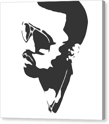 Kanye West Silhouette Canvas Print by Dan Sproul