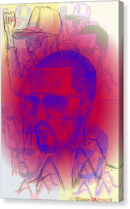 Kanye West Swag  Canvas Print by HPrince De Artist