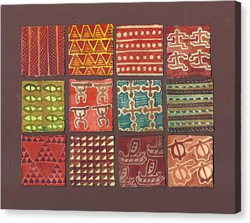 Kapa Squares 3 Canvas Print by Cynthia Conklin