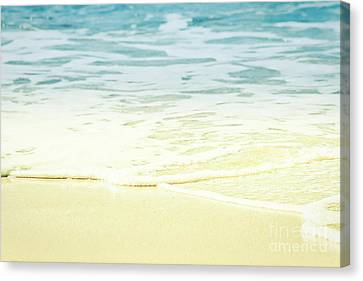 Canvas Print featuring the photograph Kapalua Beach Dream Colours Sparkling Golden Sand Seafoam Maui by Sharon Mau