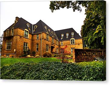 Kappa Delta House Canvas Print - Kappa Delta Sorority On The Washington State Campus by David Patterson