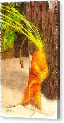 Karate Carot - Da Canvas Print by Leonardo Digenio