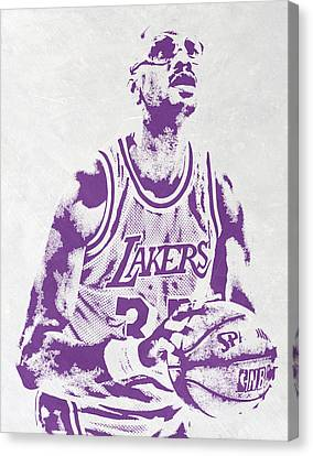 Kareem Abdul Jabbar Los Angeles Lakers Pixel Art Canvas Print