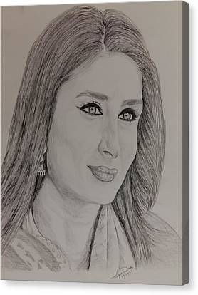 Kareena Kapoor Khan Canvas Print by Lupamudra Dutta