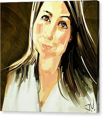 Canvas Print featuring the digital art Karen by Jim Vance