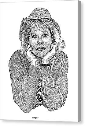 Karen Marie Canvas Print by Dave Luebbert