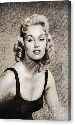 Steele Canvas Print - Karen Steele, Vintage Actress by John Springfield