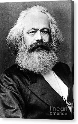 Karl Marx  German Politician Economist And Philosopher One Of The Authors Of Communist Pa Canvas Print by English School