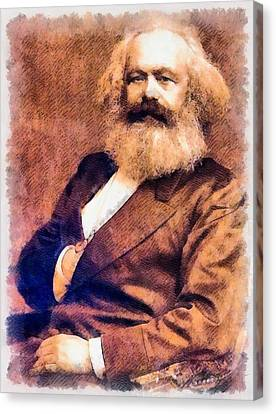Karl Marx Canvas Print by John Springfield