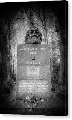 Karl Marx Memorial London Canvas Print by David Pyatt
